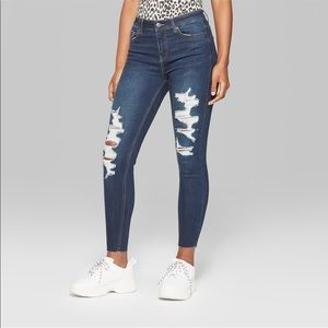 Denim - Distressed Skinny Jeans